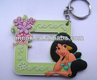 Custom one side soft pvc hot girls key chain