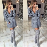 2015 women wear long sleeve blouse v neck sexy latest dress designs womens fashionable dresses AL0104 without belt