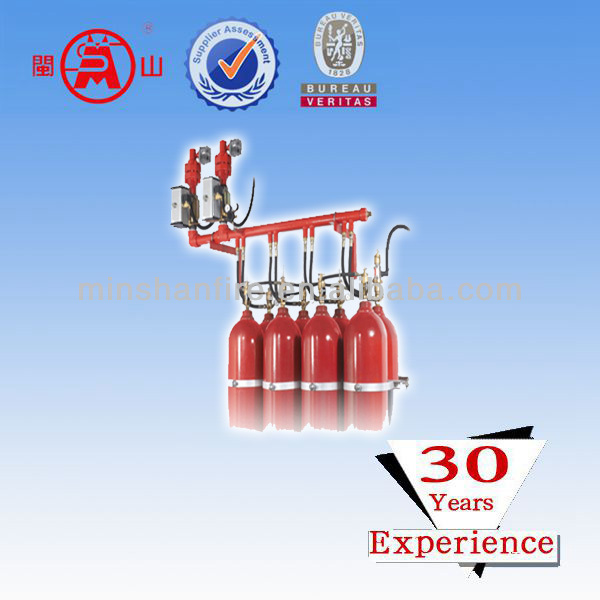 CO2 gas fire suppression system in FM 200 fire extinguisher system
