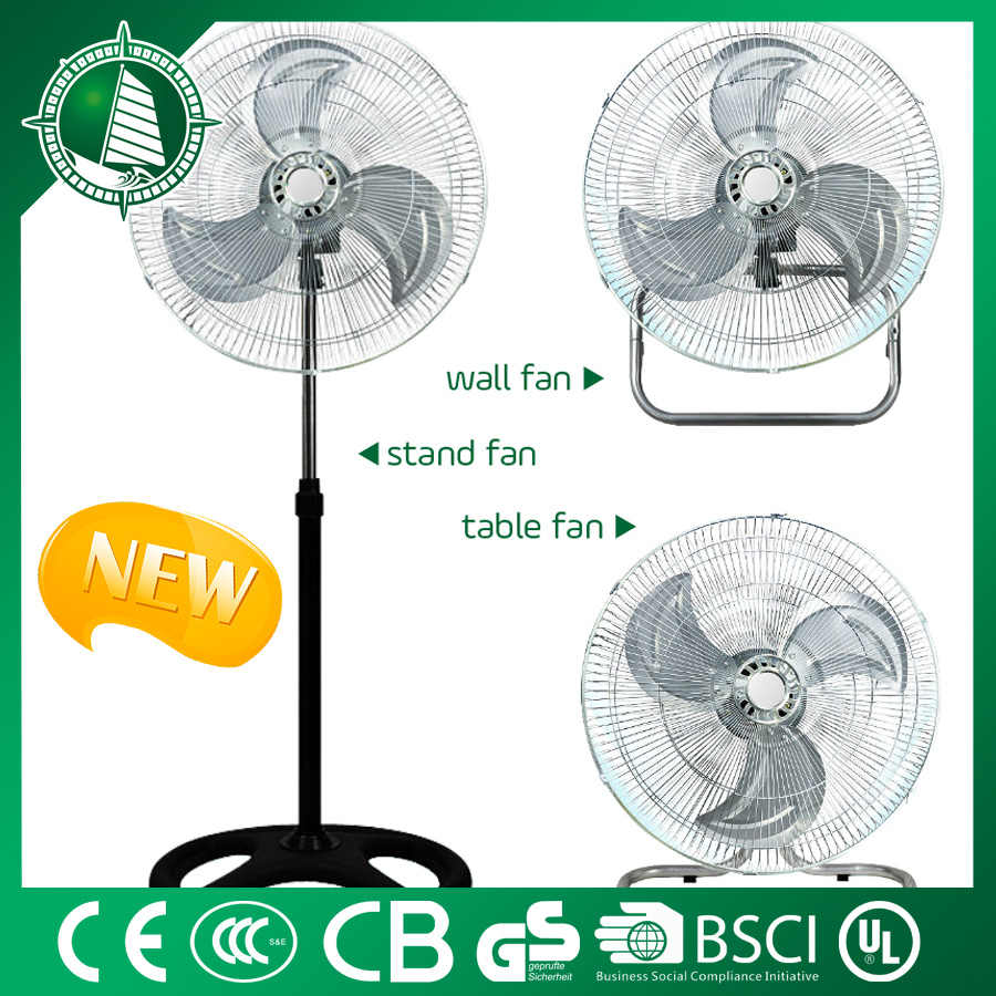 "CE certificated 18"" national stand fans DC-12V with LAMP"