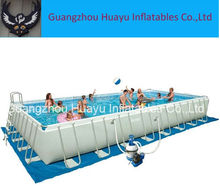metal frame swimming pool / rectangular metal frame pool / frame swimming pool