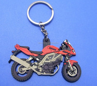motorcycle/motorbike/Autobicycle soft PVC keychain/keyrings/key ring