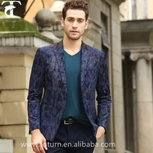 Nice design men blazer blue casual woolen suit