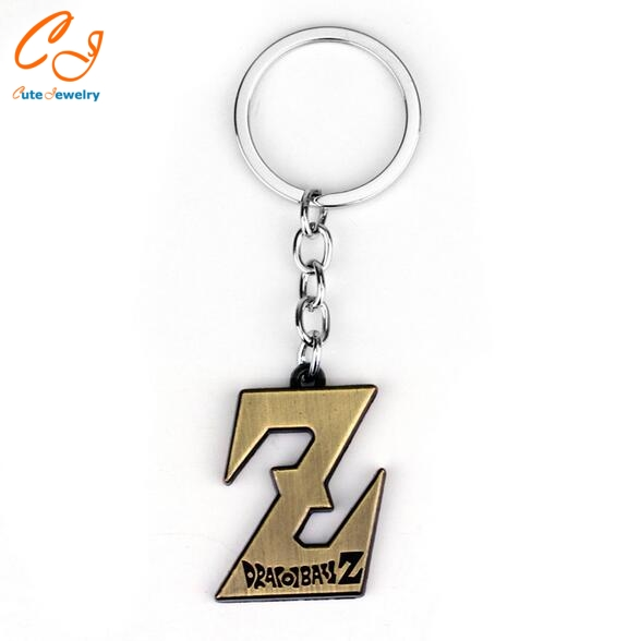 2 colors Anime Dragon Ball keychain Z figure Pendant Key chain Series Classic Cartoon Keyring and pendant necklace