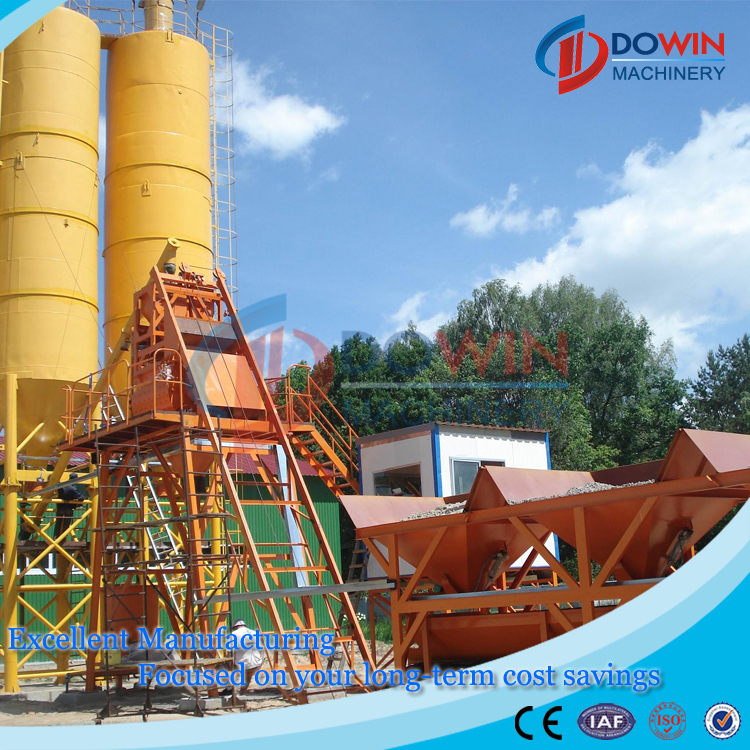 Hopper Modular HZS25 Concrete Plant Stationary Concrete Mixing Plant Low Cost Concrete Batching Plant