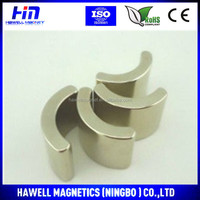 N52 Permanent Neodymium Arc Magnets For Motorcycles