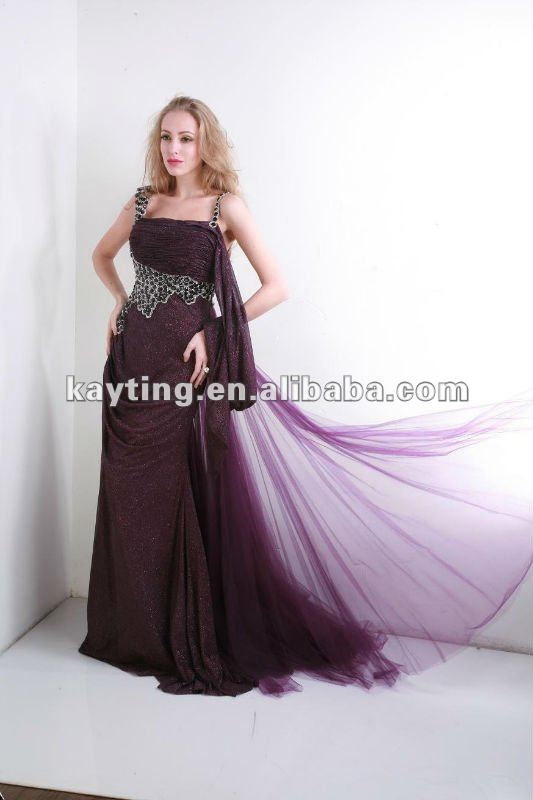 2012 new designer celebrity evening dresses sequins beaded evening dress beautiful party dress for girl 5962