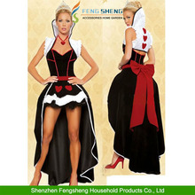 Halloween Queen Shawl Dress Vampire Queen Of Hearts Dress