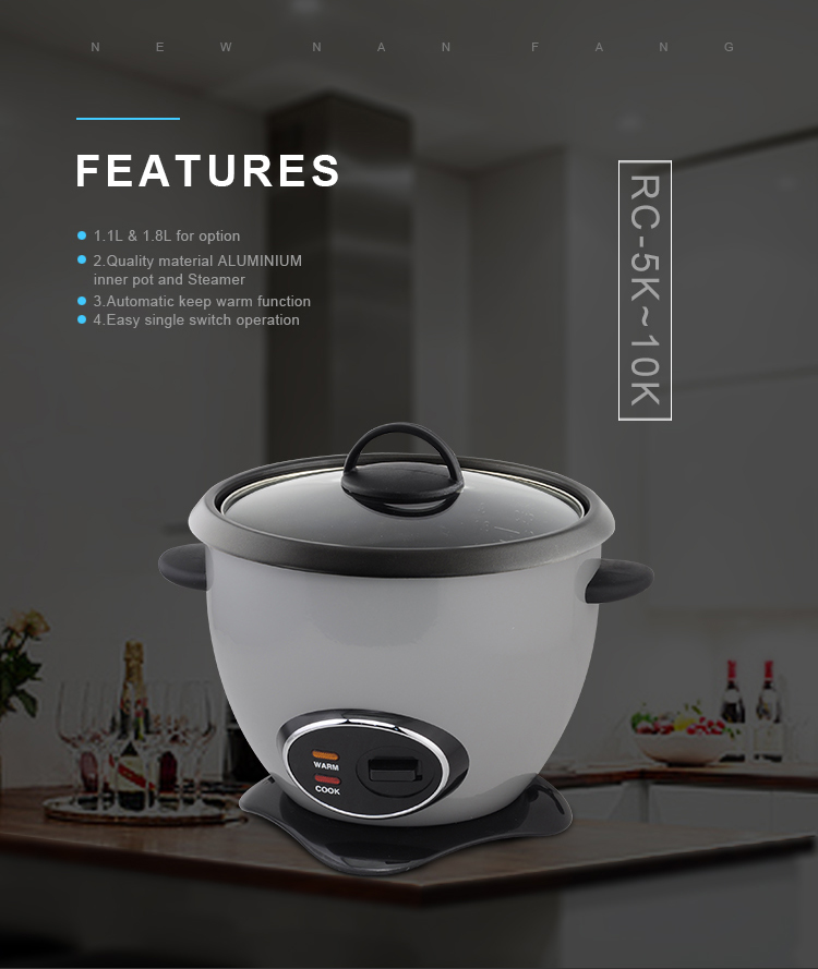 Intelligence Electric Rice Cooker Stainless Steel Color Rice Cooker 1.8L