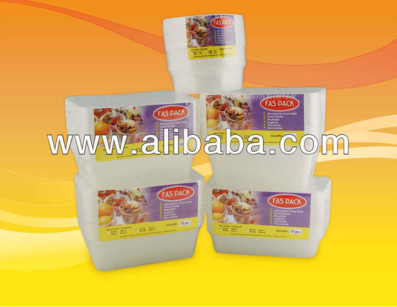 Microwave Plastic Disposable Containers and Cups