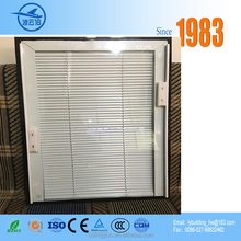 Whosale price double tempered glass aluminium louver door