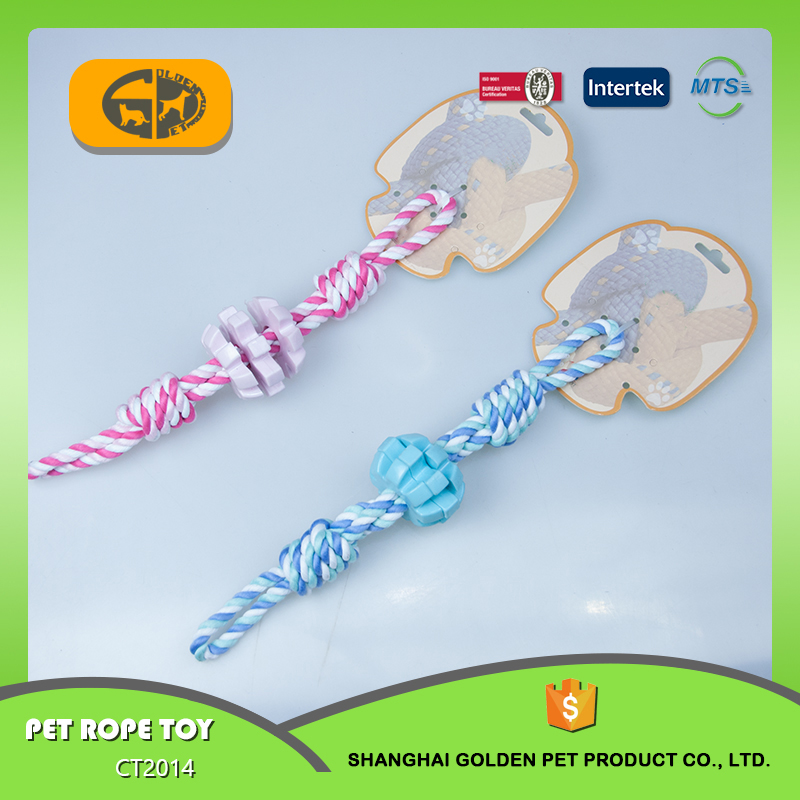 Making Fashion Novelty The pet rope dog toy line Fetch N Tug From China