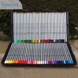 Marco 72 colored pencils with tin box or carton box package.
