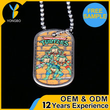 Wholesale Printed Girl And Animal Sex Dog Tag With Bead Chain
