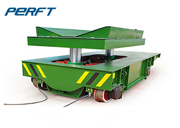 hydraulic lifting rail transfer car electric industrial transportation use for aluminum coil and steel transportation
