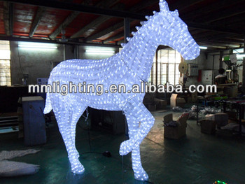 Fancy Chrismas Horse Lighting||2.1m Holiday Acrylic Light