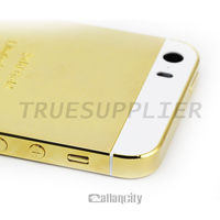 Luxury gold housing with logo for Apple iPhone 5 5s 5c 6