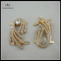 Wholesale high quality rhinestone metal shoe buckles shoe accessories