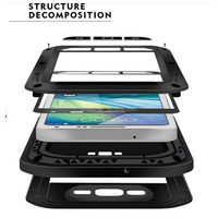2015 Hot sale aluminum metal waterproof phone case for htc one max