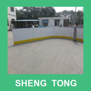 chemical and oil resistant HDPE ice rink barrier board,plastic ice hockey rink barrier