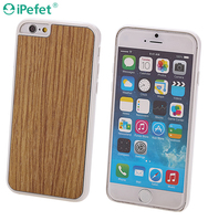 Factory price high quality real wood back cover TPU+wood phone case for iPhone 6s