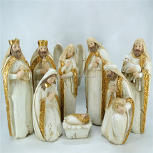 Christmas gift nativity scene kick knack