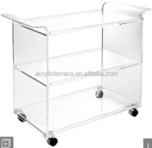 acrylic serving cart lucite trolley