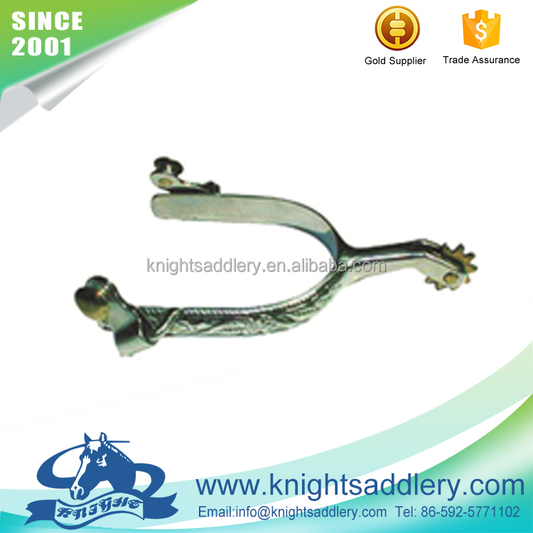 SS Men's Decorated Roping Horse Spurs