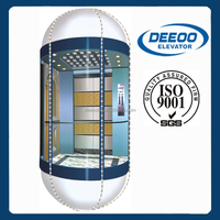 cheap outdoor sightseeing glass home elevator