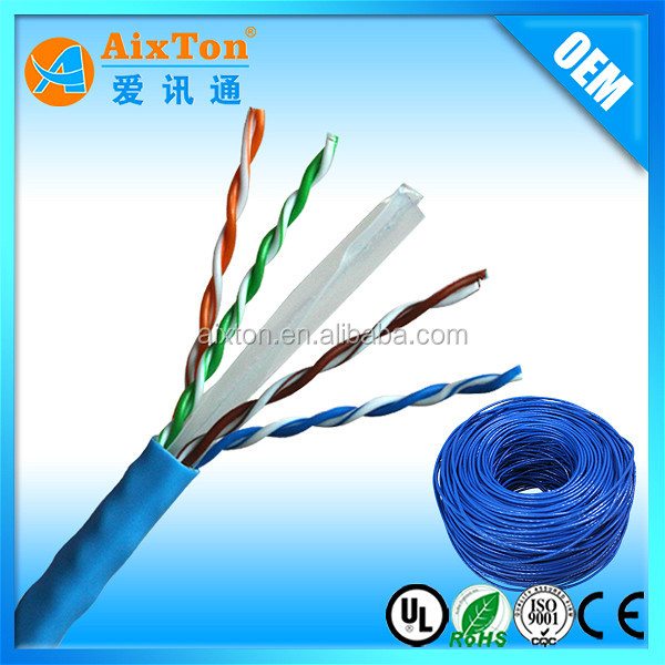 2016 High speed 1000mbps 4 pair solid copper utp CAT6 cable
