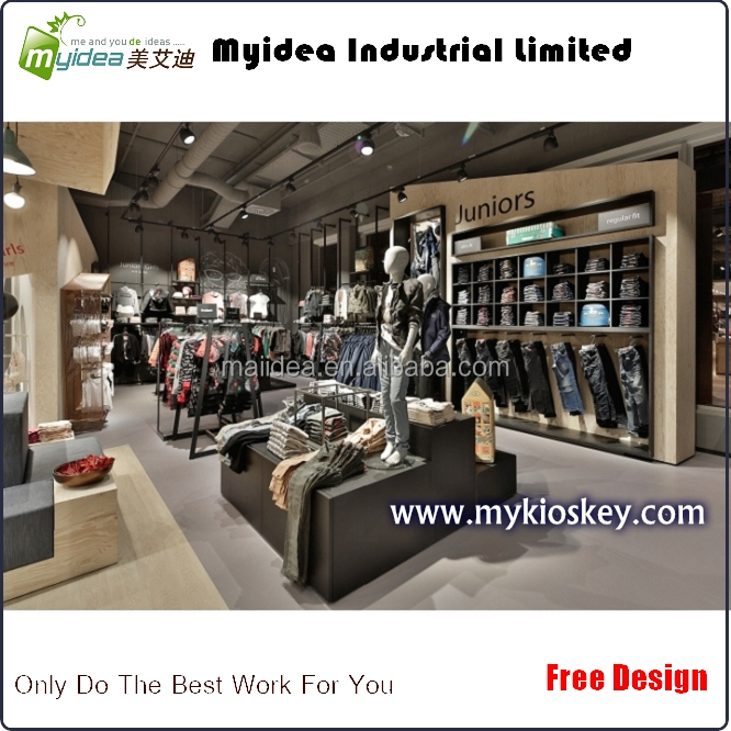 Fashional garment shop names and store fixture display/retail clothing store furniture
