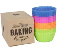 24-pack Reusable Silicone Baking Cups / Cupcake Liners