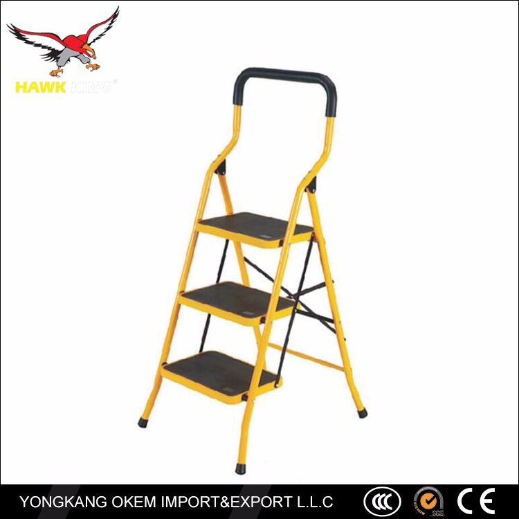 HAWK KING 4 steps household steel ladder,stainless steel ladder prices