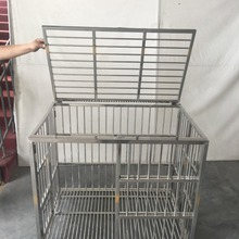 Folding Stainless steel dog cage,dog transport cage metal transport box