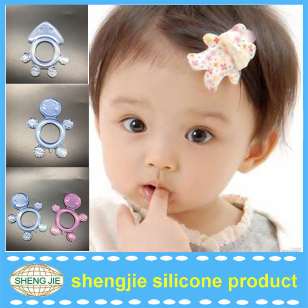 2017 factory new animal design silicone baby teether toy