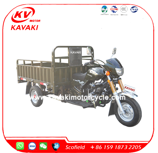 Big capacity 2 tons cargo tricycle three wheel petro motorcycles
