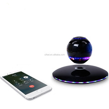 2017 High quality Levitating portable Wireless Bluetooth floating Speaker with Cellphone, tablet stand holder