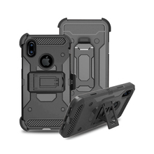 Alibaba Best Sellers Cell Phone Accessories TPU PC 2 in 1 Hybrid Cover Stand Tough Rugged Armor Mobile Case for iPhone X