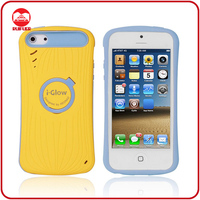 Hot Selling Dual Color Ring Stand Silicone PC Hybrid Night Glow Phone Case for Iphone 5