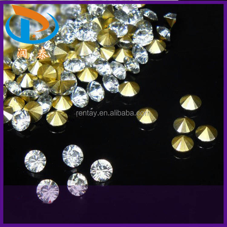 Factory Price SS38 Clear Acrylic Glass Point Back Rhinestones for Jewelry Findings