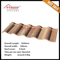 High quality stone coated steel roofing tile / roman sand stone coated metal roofing tile made in china