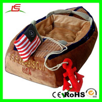 E294 plush boat pet dog bed dog women mating