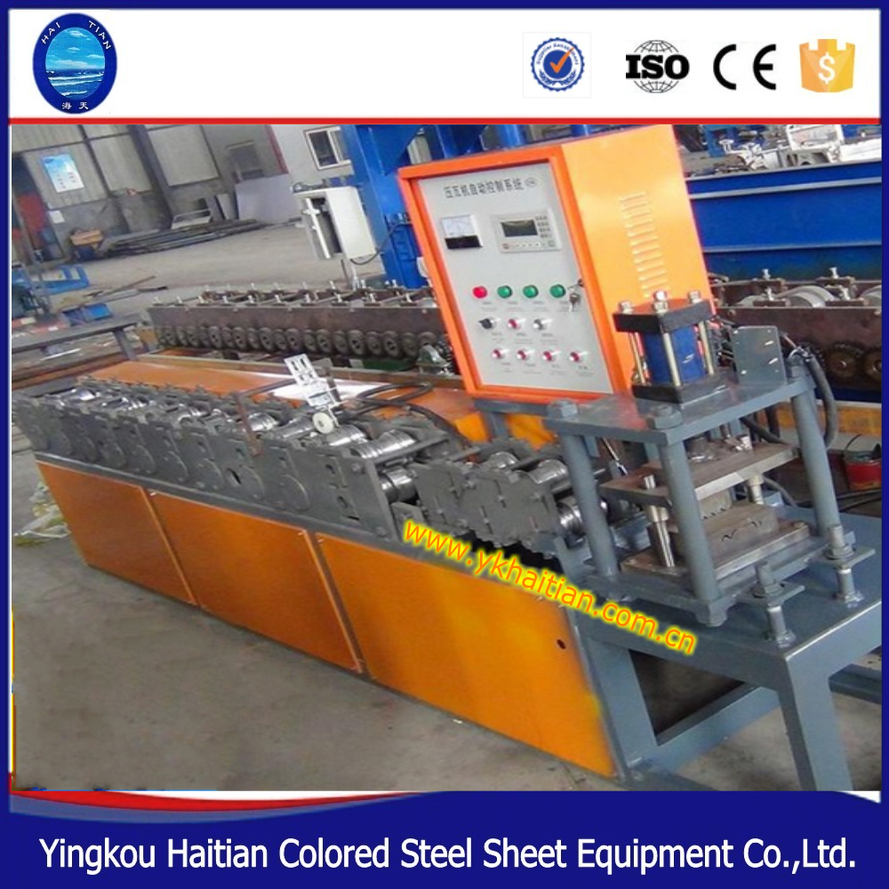 Automatic hydraulic galvanized cold steel shop slat roller shutter door roll forming machine