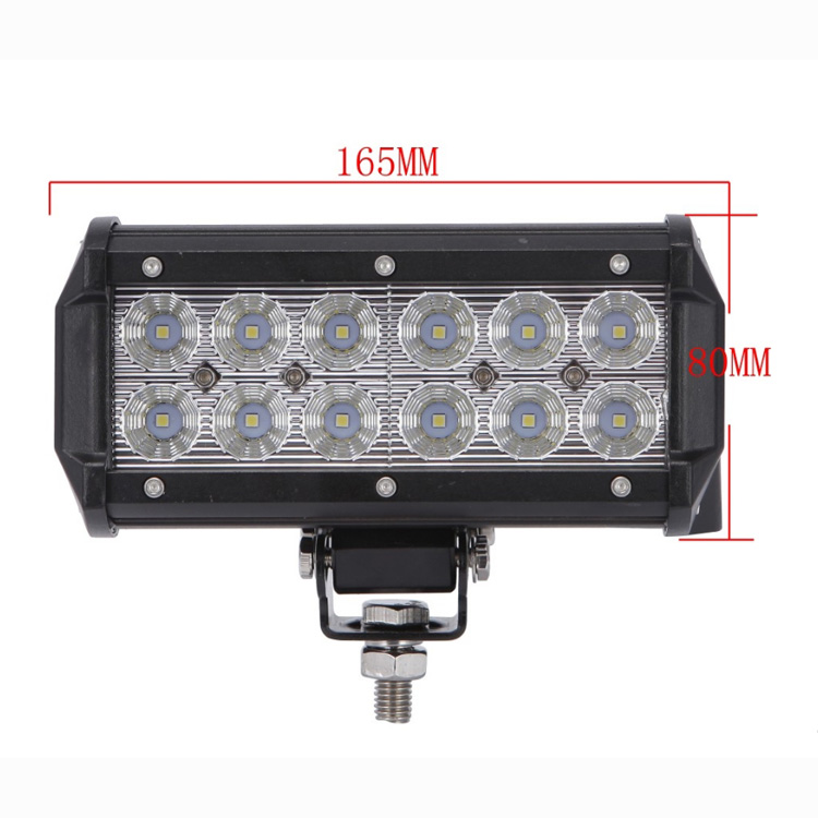 Waterproof 7.5 Inch 36W 6000K CREE B5D LED Day Running Work Light Bar for Motorcycle Car Boat Marine ATV Off Road Motocross