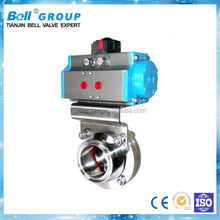 1 Inch Sanitary Butterfly Valve with Pneumatic Actuator