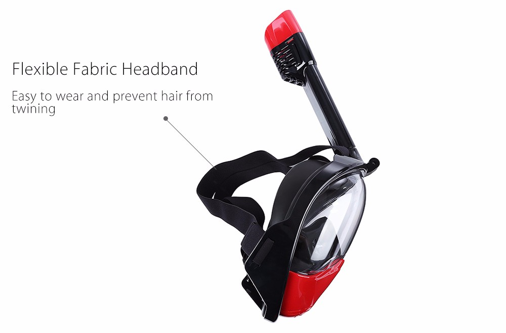 Easy Snorkel Mask with Anti-Fog and Anti-Leak Technology - Breath Underwater with this Full Face Snorkeling Mask with 180 View