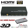 HD 4 port hdmi switch switcher protech with spdif coax stereo audio