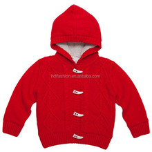 Knitting pattern hooded kids wholesale winter clothes