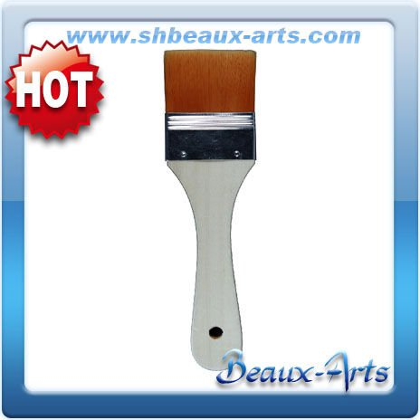Flat Paint Brush Tin,Varnished Wooden Handle Brushes
