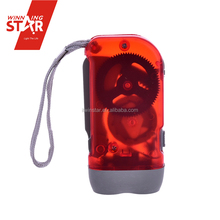 Wholesale Best Mini Waterproof Plastic Hand Crank Shake 3 led Flashlight